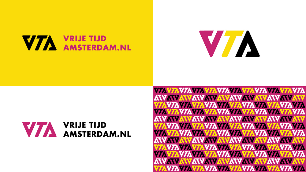 A corporate identity for a news website: VrijeTijdAmsterdam