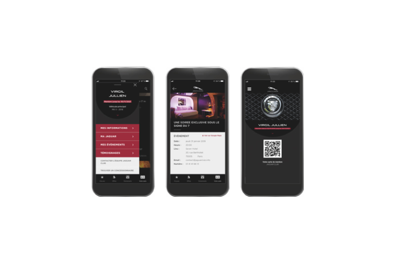 Jaguar Club app : The first one in the European automobile industry