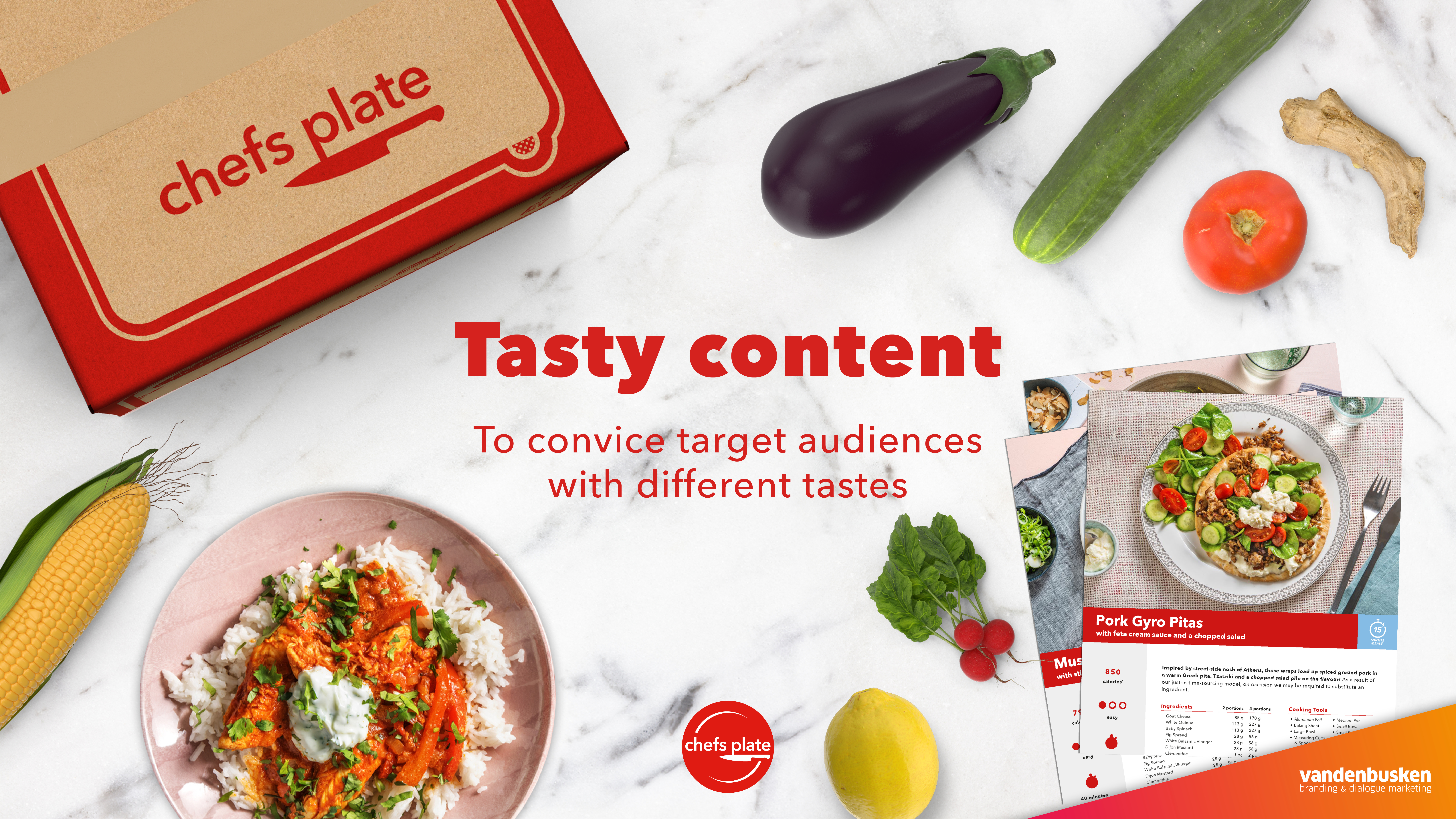 Tasty content to convince target audiences with different tastes