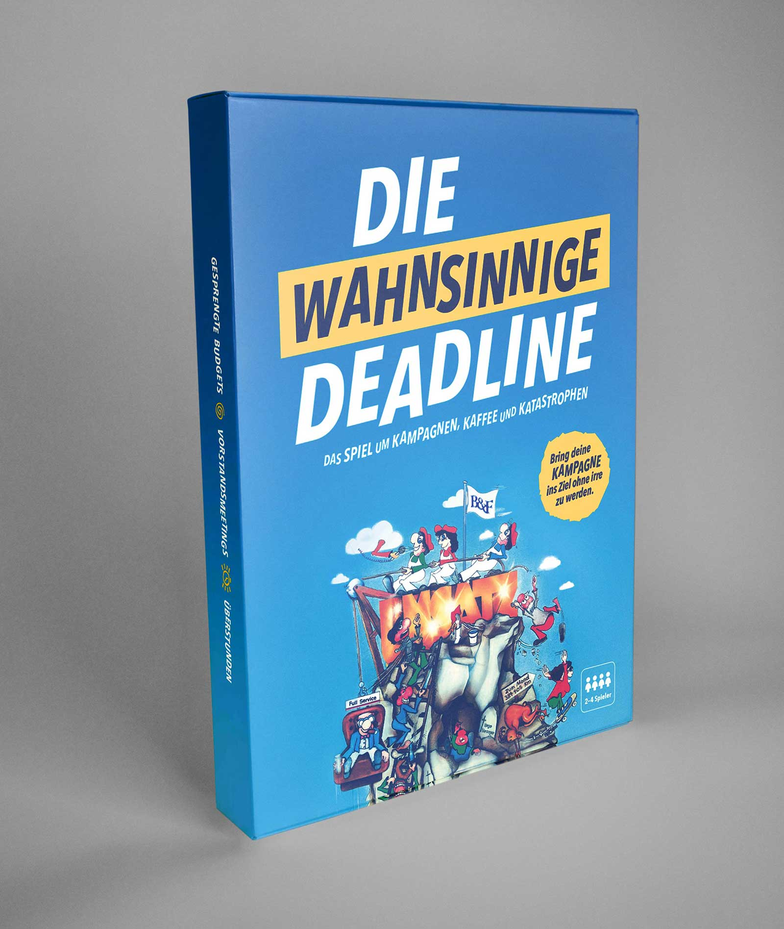 The Crazy Deadline. A game about campaigns, coffee and catastrophes.