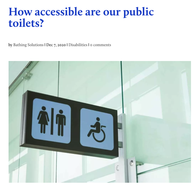 Bathing Solutions Accessible Toilets Campaign