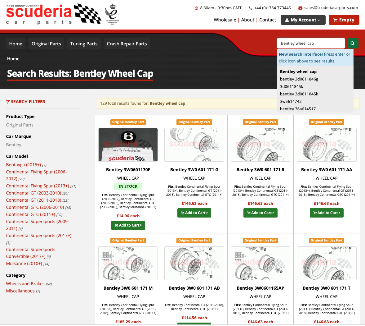 Scuderia – Improving Visibility on Search